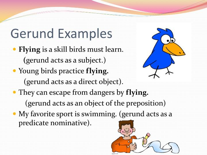 Gerund Examples