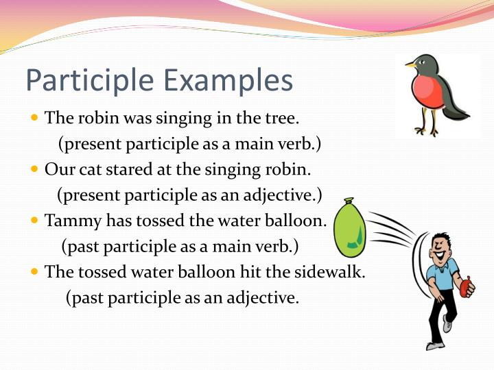 Participle examples