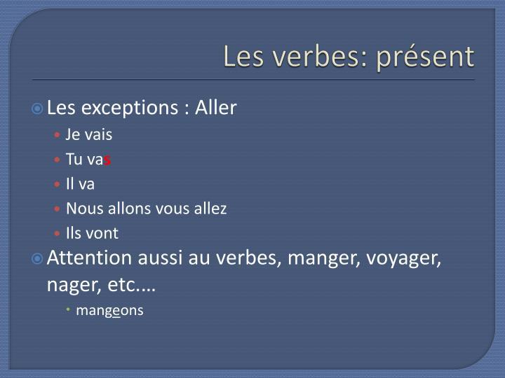 Les verbes pr sent1