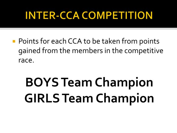 INTER-CCA COMPETITION
