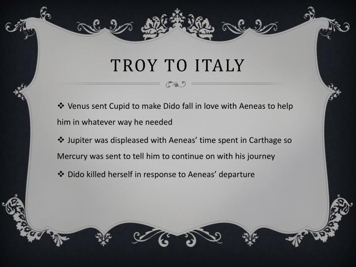 Troy to Italy