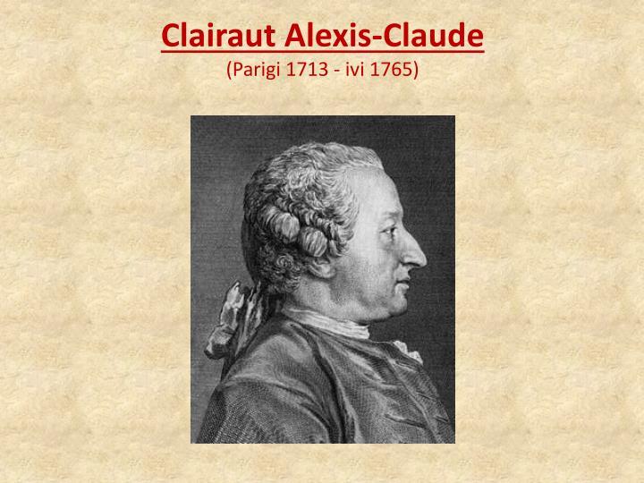 Clairaut Alexis-Claude