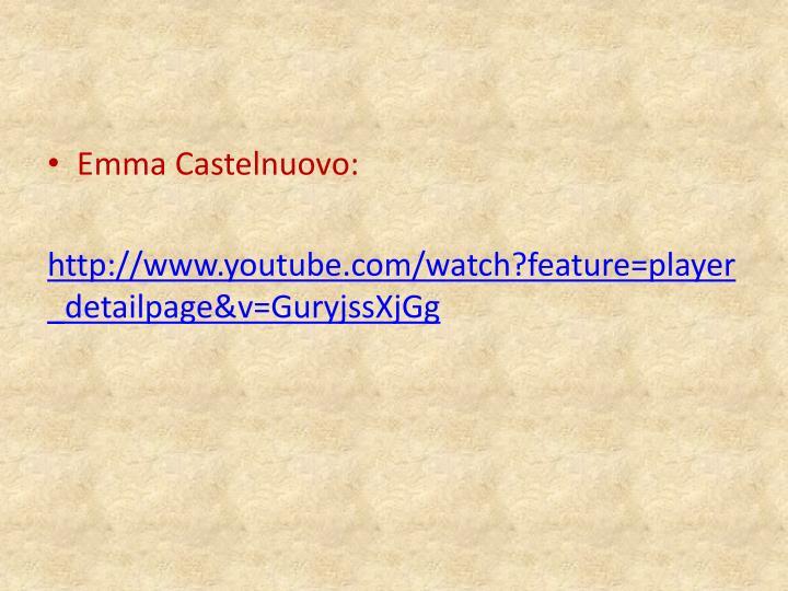 Emma Castelnuovo: