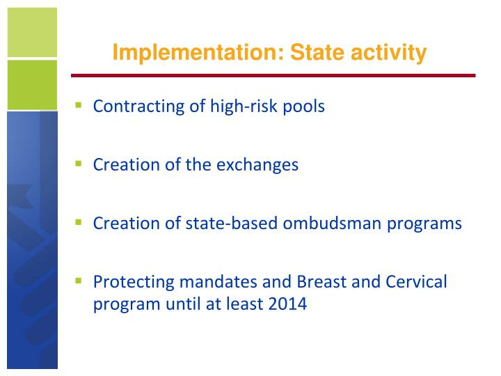 Implementation: State activity