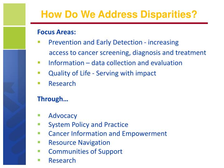 How Do We Address Disparities?