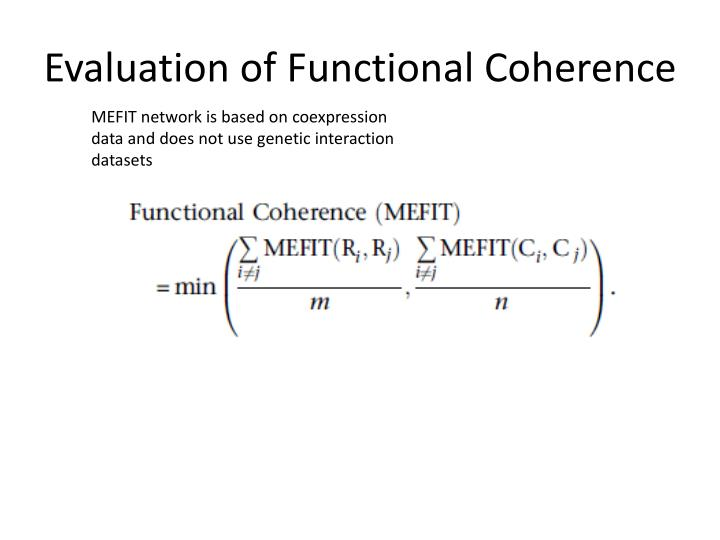 Evaluation of Functional Coherence