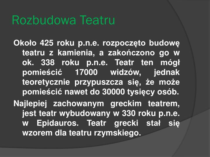 Rozbudowa Teatru