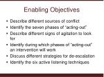 enabling objectives