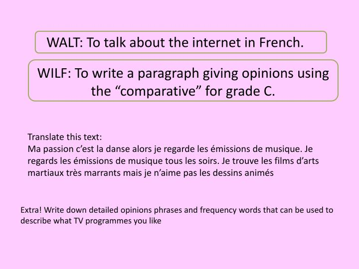 Ppt Walt To Talk About The Internet In French Powerpoint Presentation Id 1944984