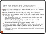 erie residual nbs conclusions