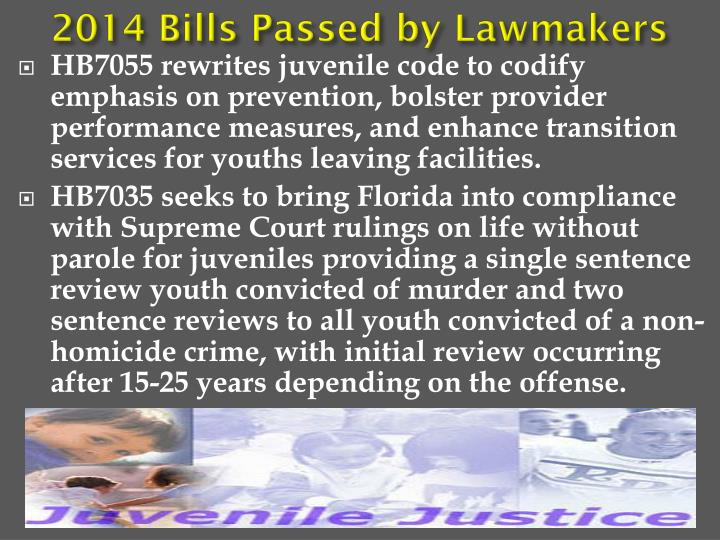 2014 Bills Passed by Lawmakers