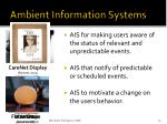 ambient information systems1