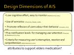 design dimensions of ais