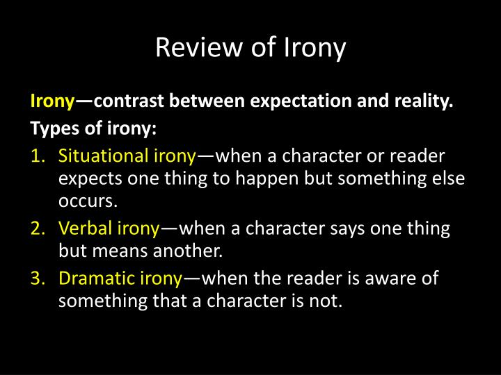 Review of Irony