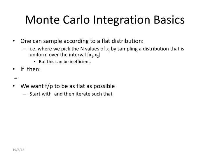 Monte Carlo Integration Basics