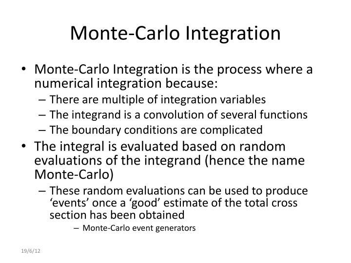 Monte-Carlo Integration