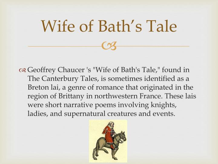 wife of bath irony Periodically, i stop to ask questions (discussion questions: wife of bath's tale) to check for comprehension as we read and discuss the text, students point out the following: the wife of bath's tale seems to fit her non-traditional view of womanhood for her time period, which chaucer portrays in her prologue excerpt.