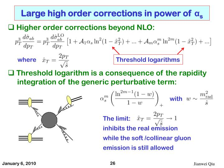 Large high order corrections in power of