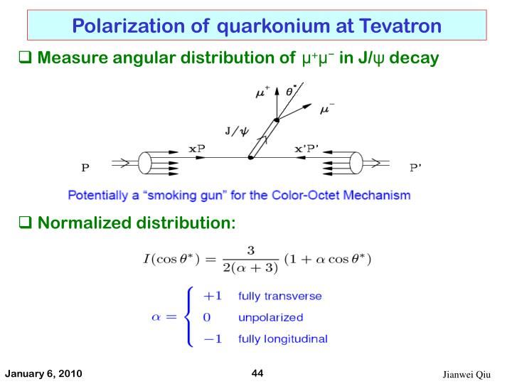 Polarization of quarkonium at Tevatron