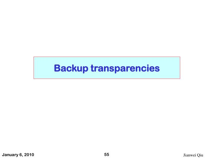 Backup transparencies