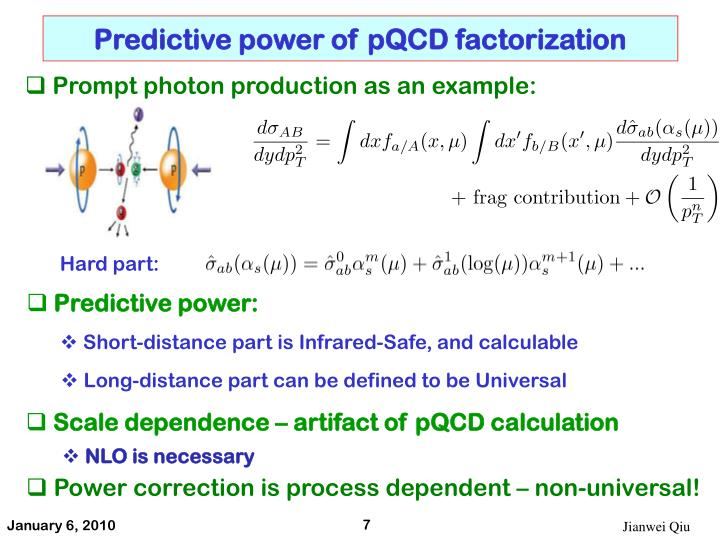 Predictive power of pQCD factorization