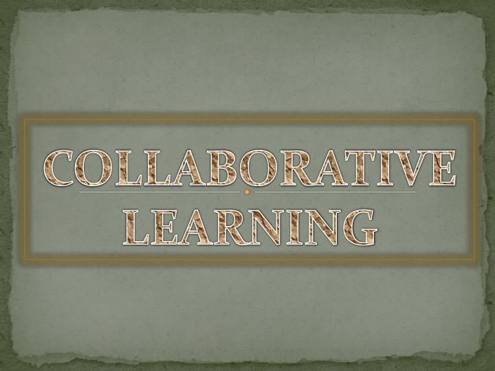 collaborative learning n.