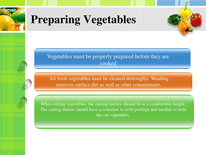Preparing Vegetables