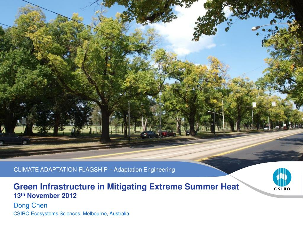 PPT - Green Infrastructure in Mitigating Extreme Summer Heat