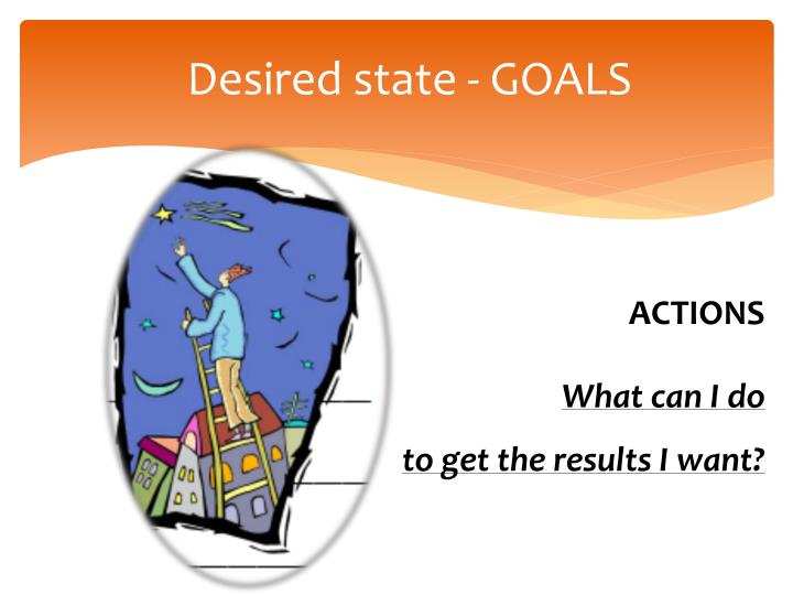 Desired state - GOALS