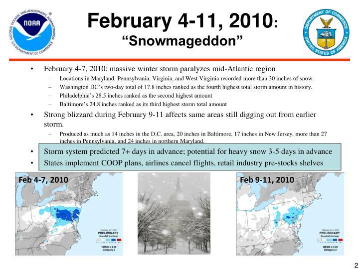 February 4 11 2010 snowmageddon