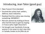 introducing jean talon good guy