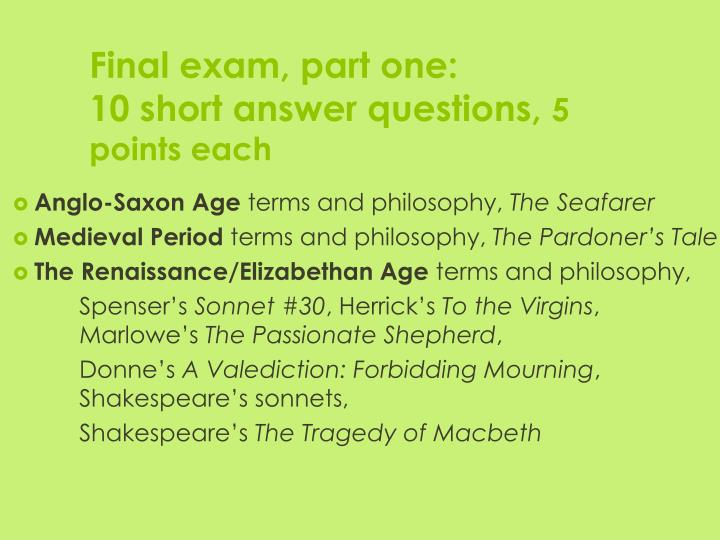 final exam for philosphy For the uexcel exam in introduction to philosophy the study materials listed below are recommended by excelsior college as the most appropriate resources.