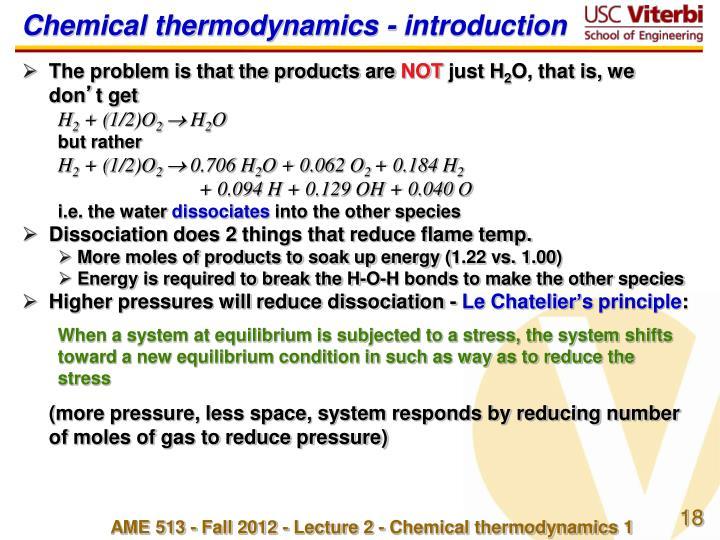 Chemical thermodynamics -
