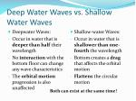 deep water waves vs shallow water waves