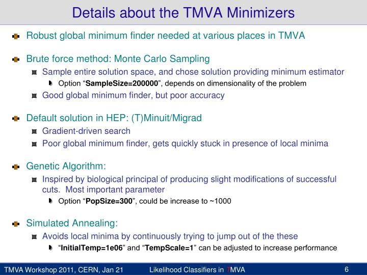 Details about the TMVA
