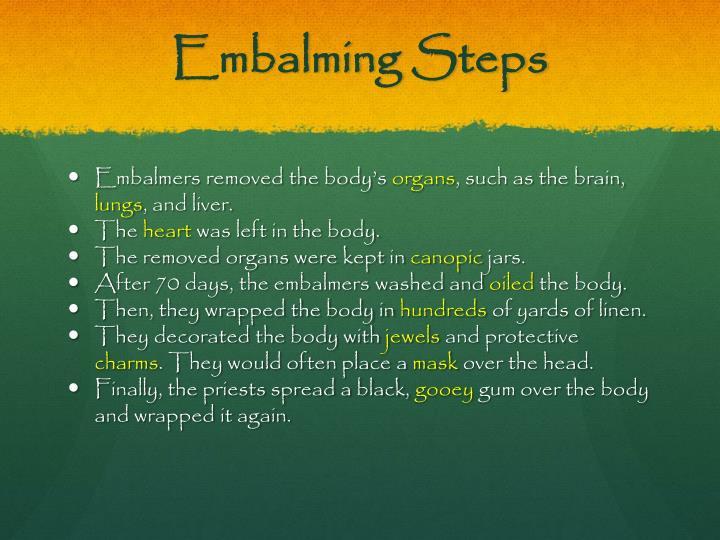 Embalming Steps