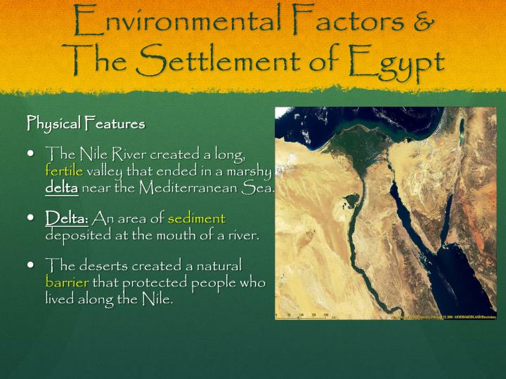 Environmental Factors & The Settlement of Egypt