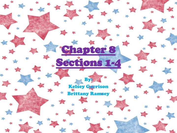 chapter 8 sections 1 4 n.