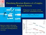 elucidating reaction kinetics of a complex reaction network