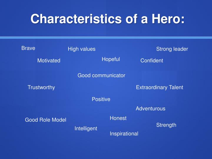 characteristics of a hero Characteristics of a good leader characteristics of a good parent effective communication and barriers that may prevent effective communication within the perioperative setting modern day hero vs anglo-saxon hero the greek hero vs.