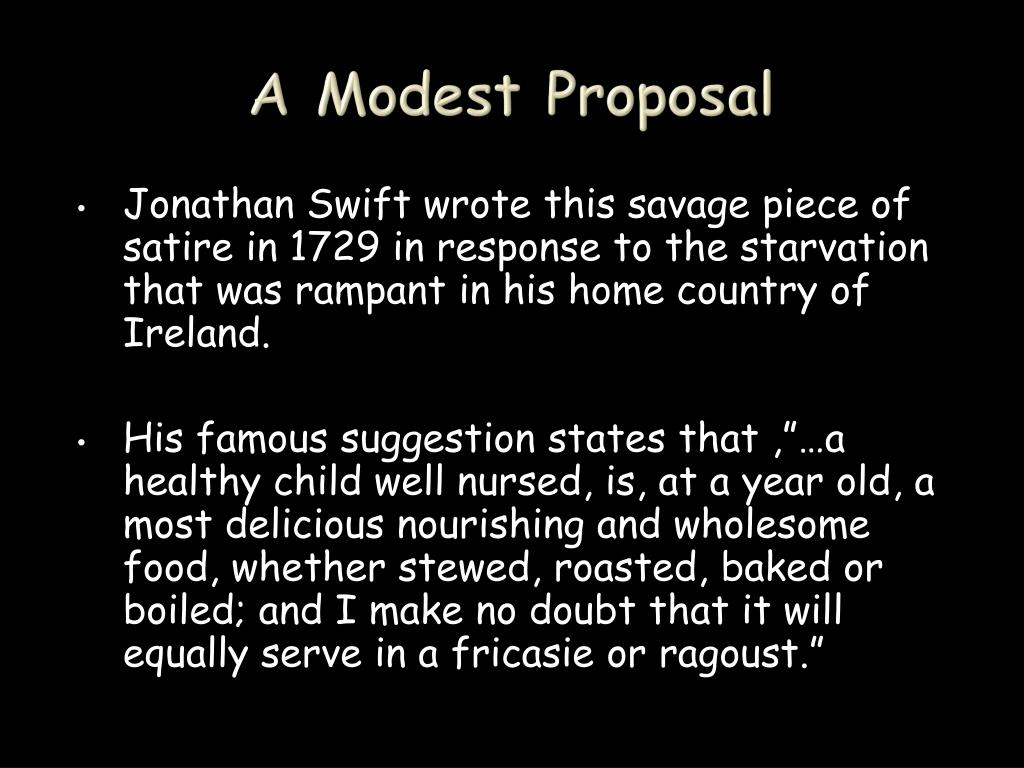 Ppt A Modest Proposal Powerpoint Presentation Free Download