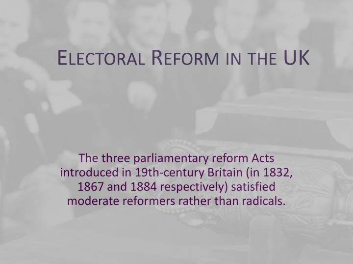 the undemocratic features of the reform act of britain after 1867