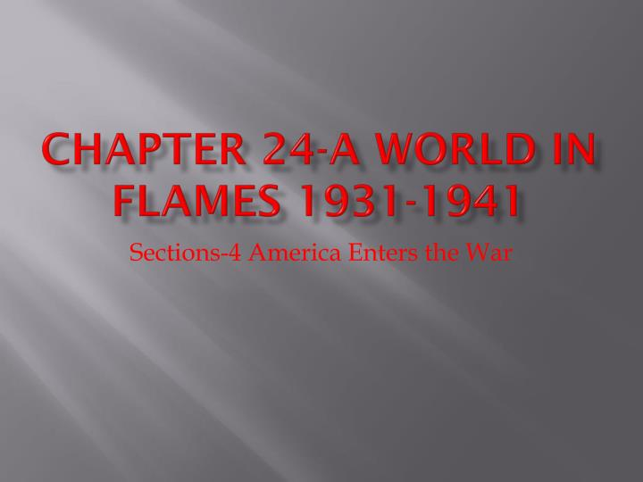 chapter 24 a world in flames 1931 1941 n.