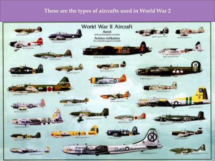 These are the types of aircrafts used in World War 2