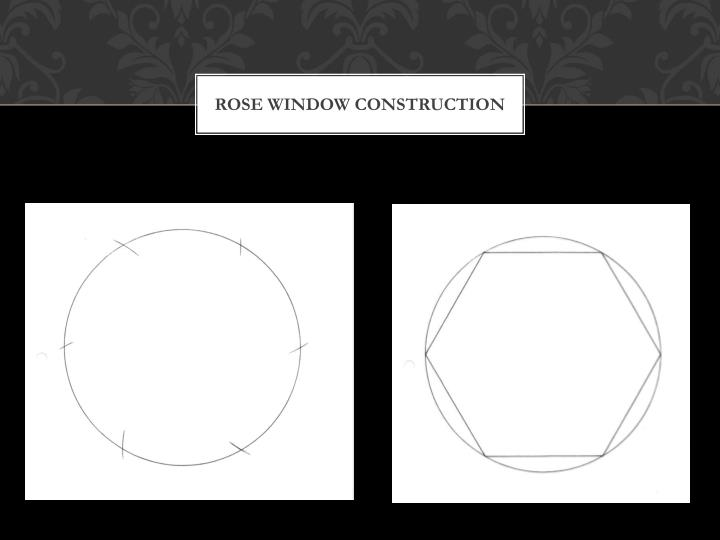 Rose window construction