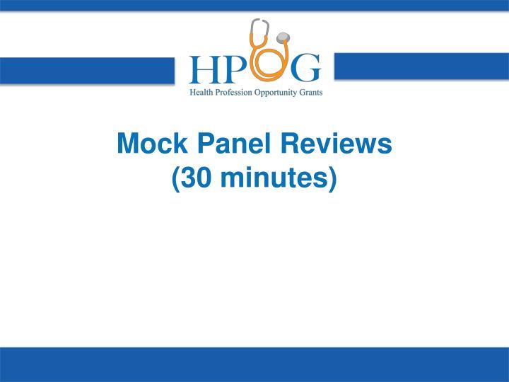 Mock Panel Reviews