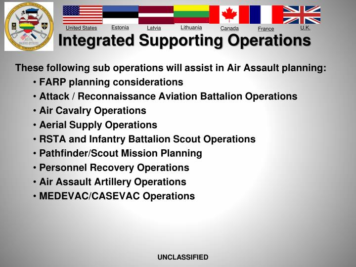 Integrated Supporting Operations