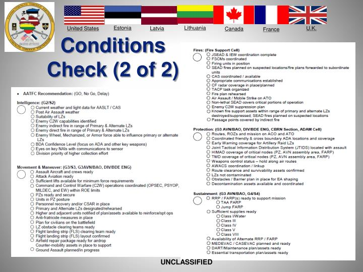 Conditions Check (2 of 2)