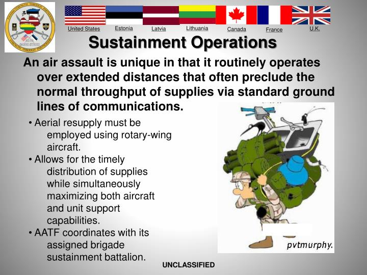 Sustainment Operations
