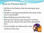how to prevent burns